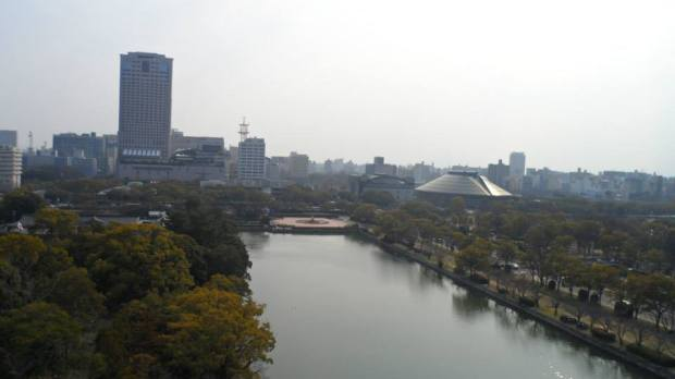Part of Hiroshima from the top of Hiroshima Castle