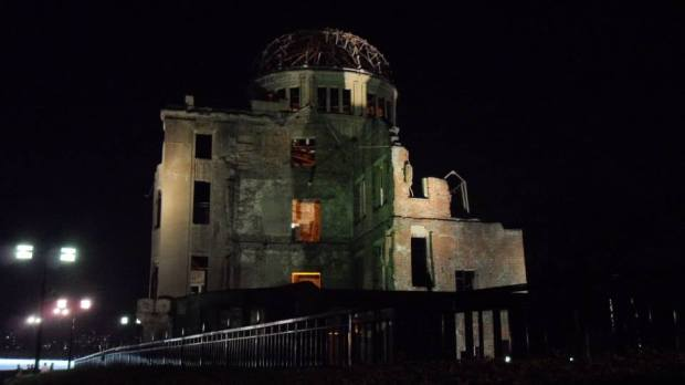 Hiroshima Peace Memorial, Atomic Bomb Dome, at Night. Picture Taken by me